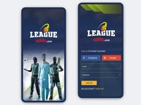 League Adda Mobile App Design