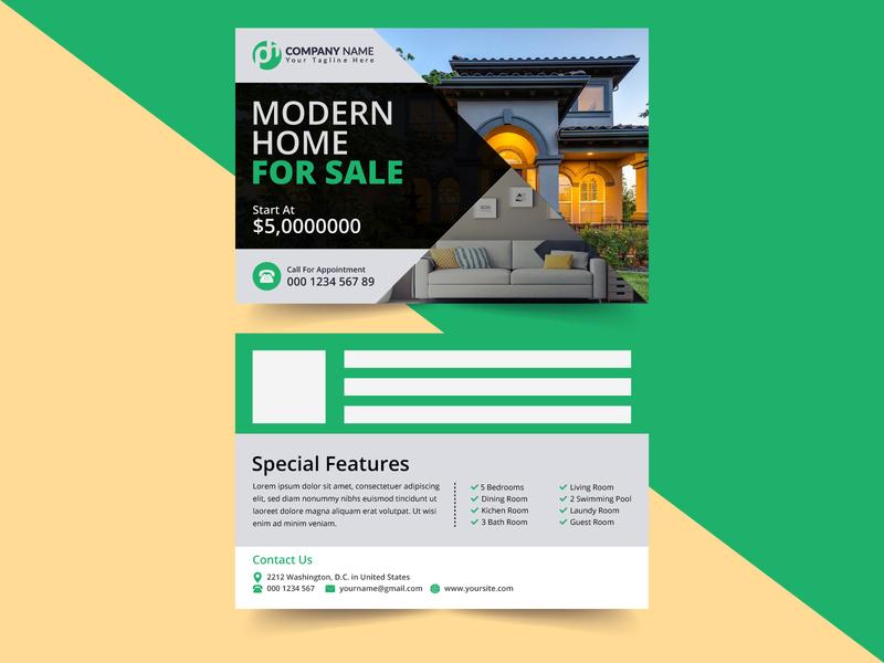 Postcard Design Template