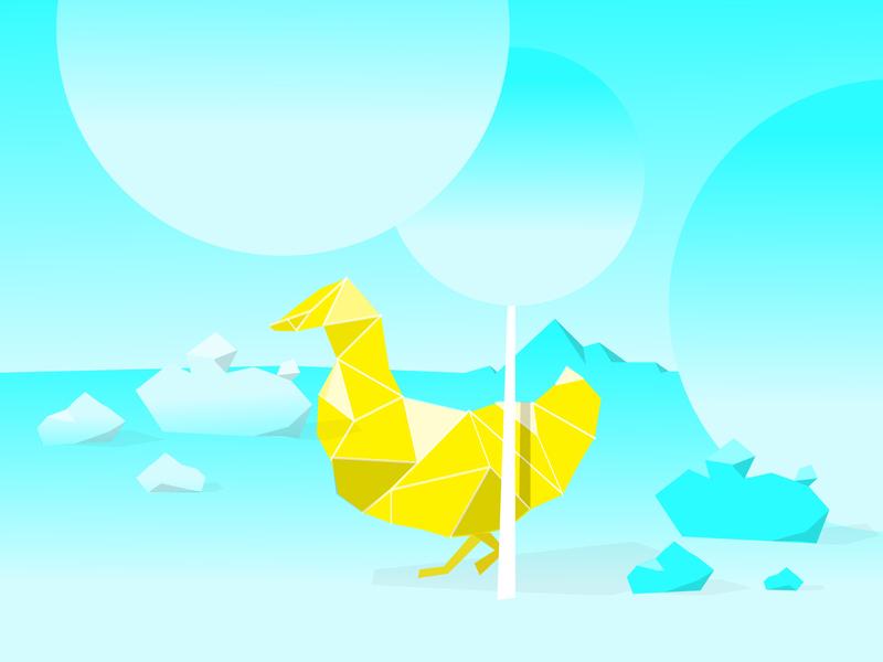 Park polygon duck poster dailyposter illustration