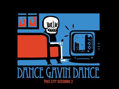 Dance Gavin Dance - TV merchandise bandmerch band art band tee dance gavin dance merchandise design merch design t-shirt design vector design shirt design skeleton band merch skull illustration