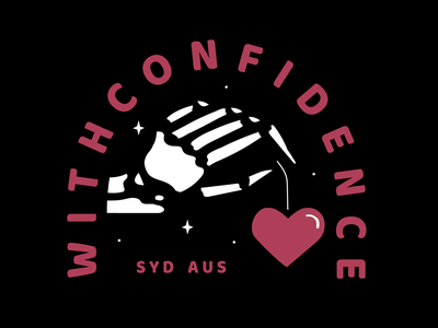 With Confidence - Heart On A String love heart valentines day valentines merch design pop punk music vector design shirt design skeleton band merch skull illustration