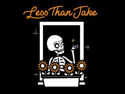Less Than Jake - Window Garden vector ska less than jake design music skeleton shirt design skull illustration band merch