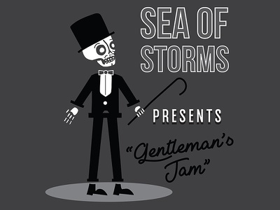 Gentleman's Jam punk rock sea of storms richmond rva music skeleton skull