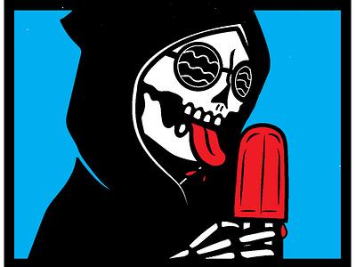 Popsickle summer popsicle design skeleton illustration skull