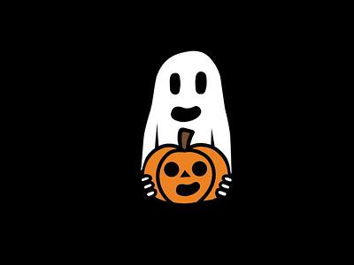 Ghost Pumpkin design vector illustration jack o lantern spooky halloween pumpkin ghost