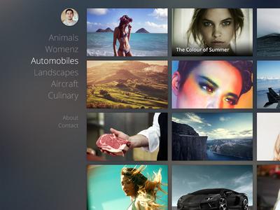 500px Theme theme grid photo sidenav profile portfolio