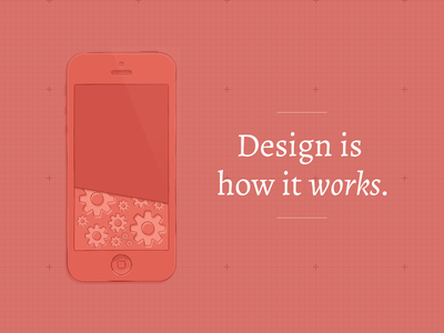 Design is how it works design playoffs red iphone
