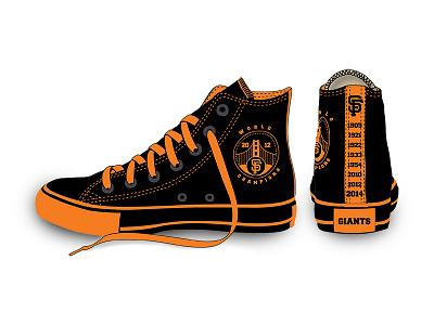 San Francisco Giants MLB Converse Shoe