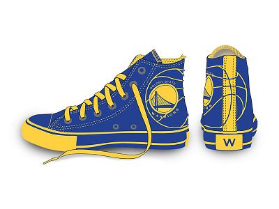 Golden State Warriors NBA Converse Shoe