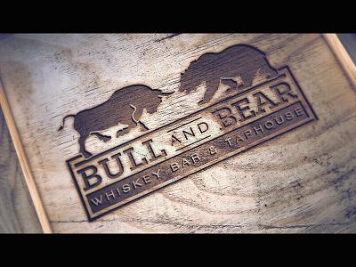 Bull And Bear Logo logo restaurant monterey whiskey bar taffies brand identity