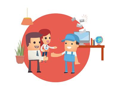 Engage marketing illustrator illustration engage