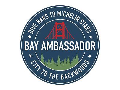 Bayambassador Logo badge logo ambassador city logo tour guide tour company san francisco logo design