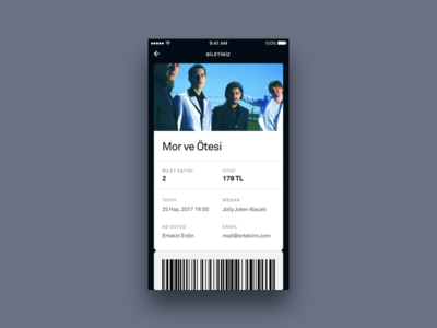 Concert Ticket UI - Acticity