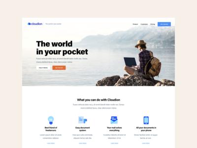 Landing Page - Cloudion