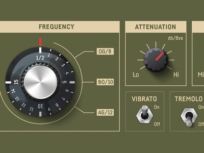 Dial Knob 2 switch frequency audio dial illustration knob