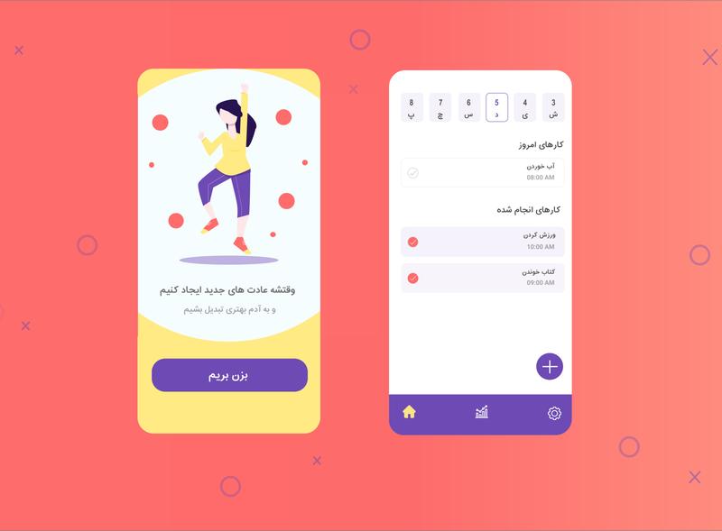 habit tracker design app uiux ux ui