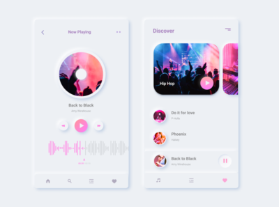 Music app app design ui