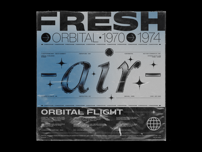 Poster | Fresh Air - 1970 cover design chrometype print poster design branding cover art typography design typography design illustration poster