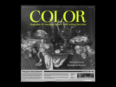 Poster | Color Magazine poster cover design print poster design cover art typography design typography branding illustration design