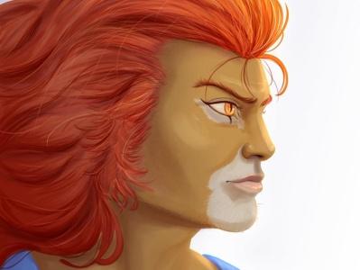 LION thundercats lion thundercats digitalart quadrinho cyberpunk illustration