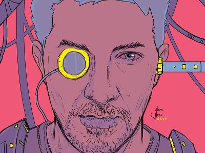 Neuro Sapiens art cyberpunk jheinealves steampunk illustration