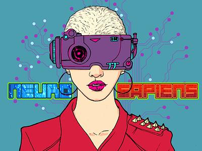 Connection scifi quadrinho netflix hq graphicnovel comic digitalartist digitalart steampunk jheinealves illustration cyberpunk art