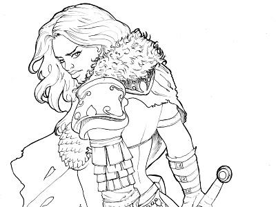 Red Sonja Pb redsonja quadrinho hq comic jheinealves illustration art