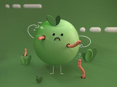 apple guy c4d octanerender illustration monsters 3d