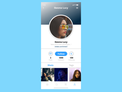 #DailyUI #Day006 #Userprofile