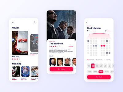 Cinema Tickets Booking App ux designer joker booking app cinema app mobile app design web app animation ui ui deisgn ux design ui design challenge ui designer ui design design