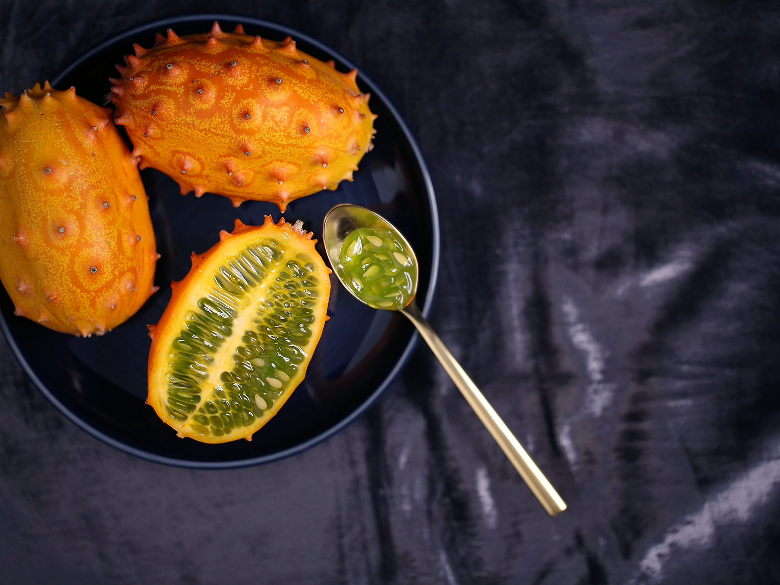 Horned Melon food styling food photography food and drink food color canon 5d mark iii canon 100mm f2.8 adobe photoshop