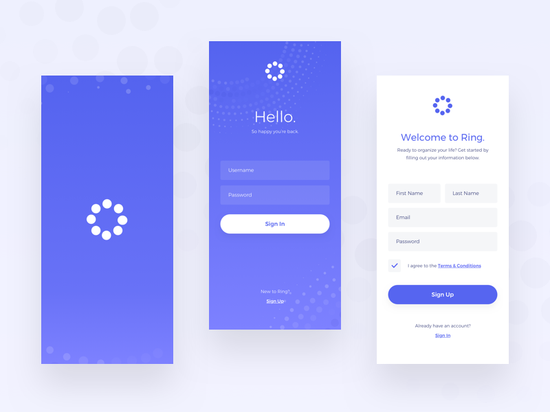 Sign In/Sign Up ui design ux firstshot daily ui dailyui mobile app mobile ui sign in sign up