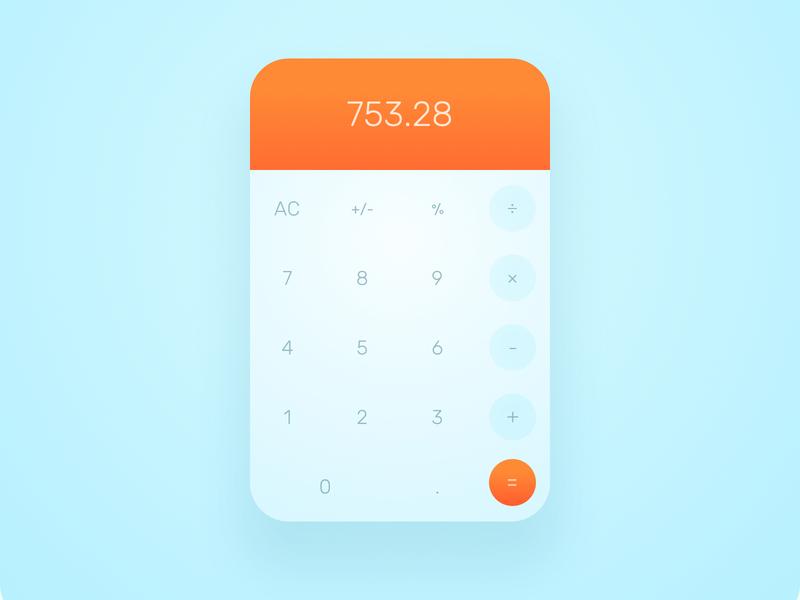 Calculator design calculator ui daily ui dailyui