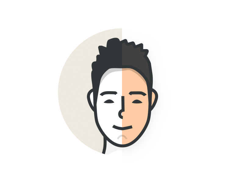 Avatar avatar color round face sketch vector draw illustration
