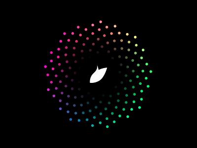 Pijp Design buron rainbow chromatic golden nature spire colors dots pijp logo