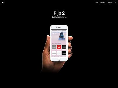 Landing (2016) identity minimal black light reveal new app pijp buron landing ui web