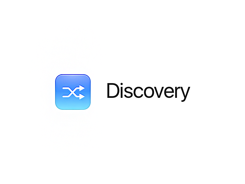 Icon: Discovery glyph interface ui app ios pijp skeu bubble blue discovery icon