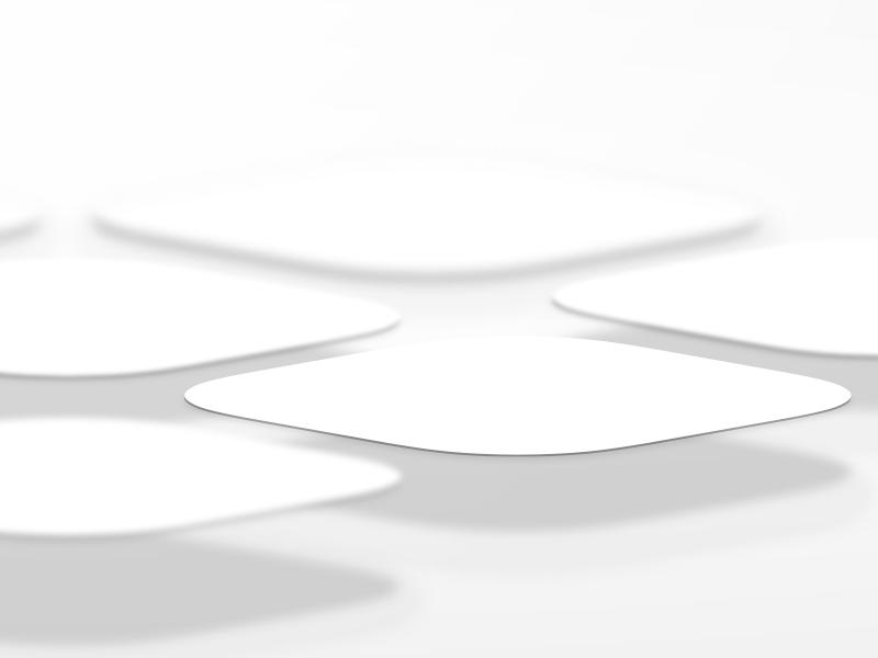 App tiles vector depth shadow floating app tiles