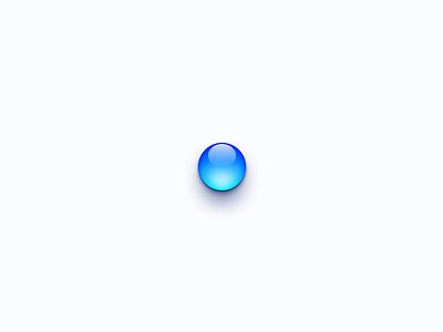 Aqua skeu icon ui blue button aqua drop