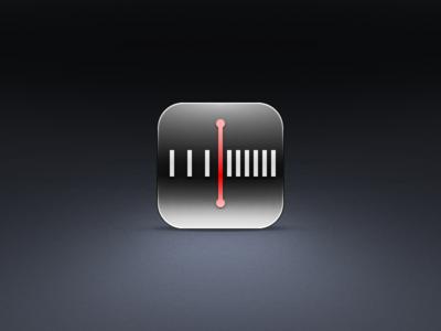 Units icon skeu glass mm m ruler setting ui icon