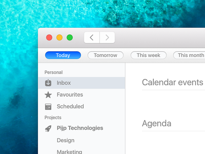 Agenda for Mac skeu 1700 ux ui todo tasks mac gtd calendar app agenda