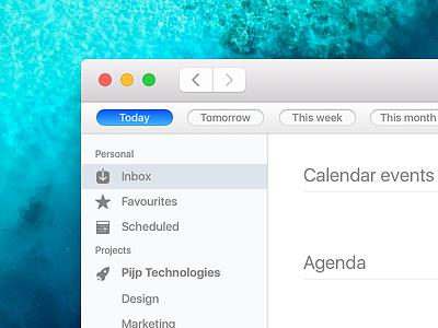 Agenda for Mac skeu 1700 ux ui todo tasks mac gtd calendar app agenda