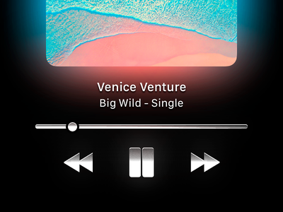 Apple Music ios 1500 skeuomorphism skeu metal button player ux ui redesign music apple