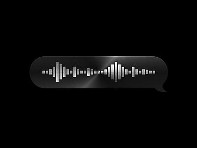 Voice Message skeuomorphism skeu ux ui audio bubble aluminium metal message voice