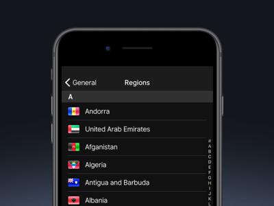 Region setting skeu settings icon list country region flag