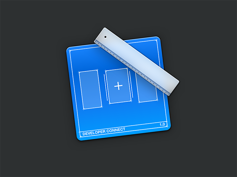 Developer icon skeu new add create ruler blue icon blueprint developer