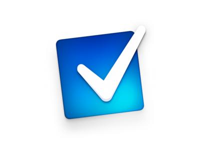 Tick icon skeu square blue tick icon