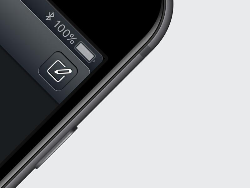 Compose skeu buron app design button iphone icon ui