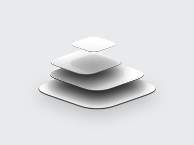 Floating App Tiles ux ui design sketch skeuomorph icon