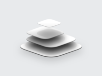Floating App Tiles ux ui design sketch skeuomorph icon